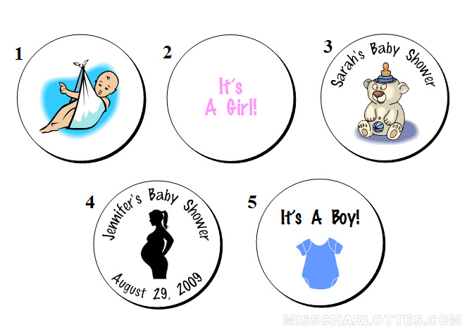 108 Personalized Baby Shower Hershey Kiss Favor Labels