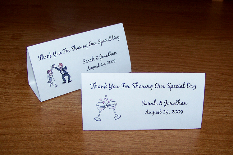 100 personalized wedding tent table place cards style 2 ebay for Personalized wedding place cards