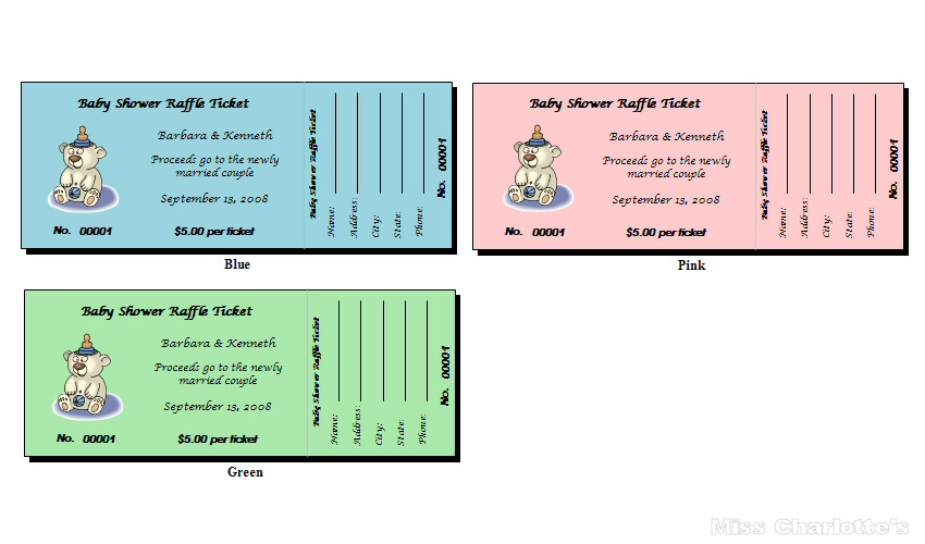 pics photos baby shower raffle tickets
