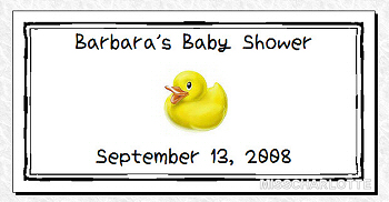 50 Personalized Baby Shower Water Bottle Favor Labels